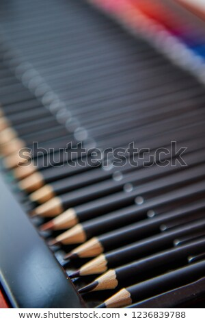 Selective focus shot of a row of professional colored pencils Stock photo © dash