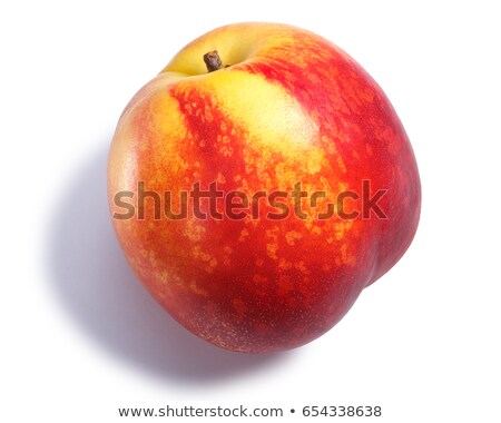 Nectarine or shaved peach, paths, top view Stock photo © maxsol7