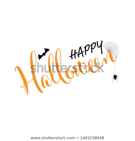 Happy Halloween Scary Cemetery Poster Text Vector Stock photo © robuart