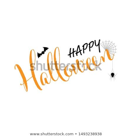 Mutlu halloween korkutucu mezarlık poster metin Stok fotoğraf © robuart