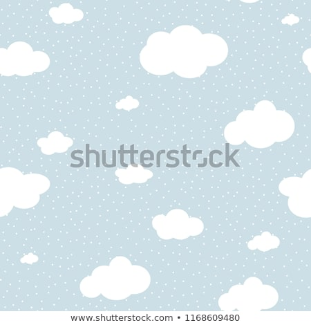 Stock photo: Cute baby cloud pattern vector seamless