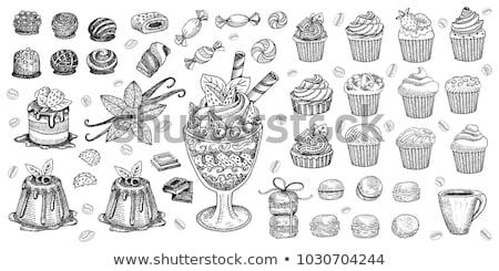 Muffin hand drawn sketch icon. Stock photo © RAStudio