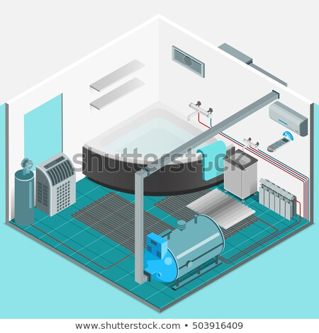 vecteur · isométrique · puce · maison · illustration · maison - photo stock © rastudio