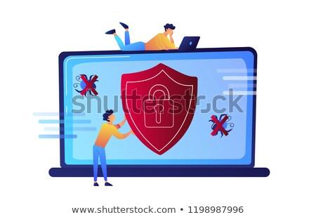 プログラマ ノートパソコン ウイルス 保護 シールド ストックフォト © RAStudio