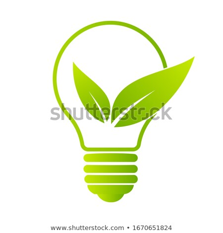Tree with Leaves and Lightbulbs, Idea Plant Icon Stock photo © robuart