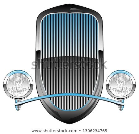 1930 stijl hot rod auto grill koplampen Stockfoto © jeff_hobrath