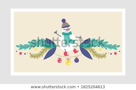красивой дизайна снеговик Рождества Сток-фото © balasoiu