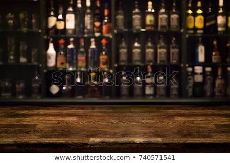 Bár pult üvegek elmosódott klasszikus üveg Stock fotó © dashapetrenko