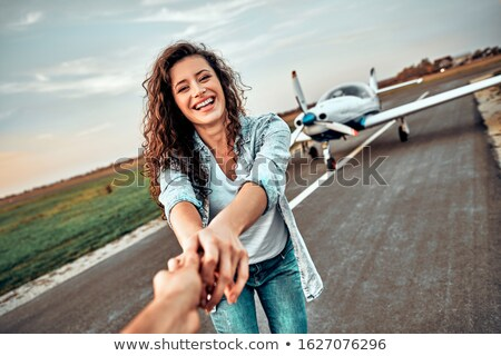 in love casual couple wants to fly Stock photo © feedough