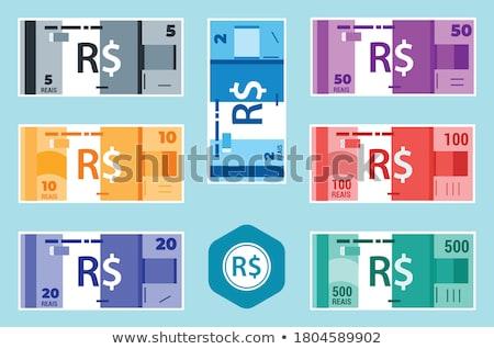 Wad of 10 dollar bank notes Stock photo © 5xinc