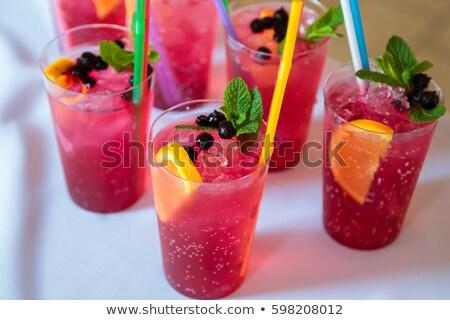 Soda bere fragola sciroppo decorato Foto d'archivio © grafvision