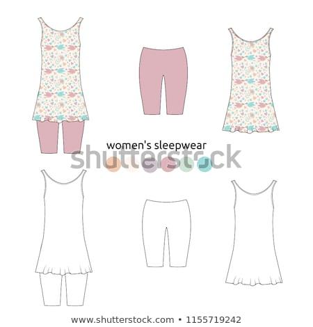 Women homewear, sleepwear and underwear pattern Stock photo © netkov1