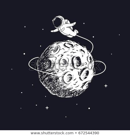 Astronaute espace dessin croquis style Photo stock © patrimonio