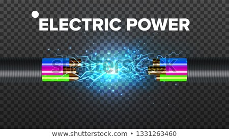 Break Electric Cable Vector. Cable Break Disconnect. 3D Realistic Isolated Illustration Stock photo © pikepicture