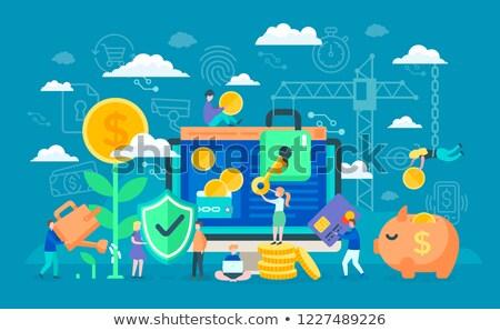 zablokowany · komputera · technologii · klawiatury · bezpieczeństwa · monitor - zdjęcia stock © robuart