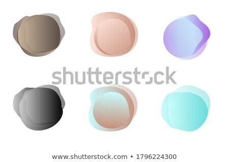 Pastel ayarlamak yalıtılmış şeffaf ışık boya Stok fotoğraf © cammep