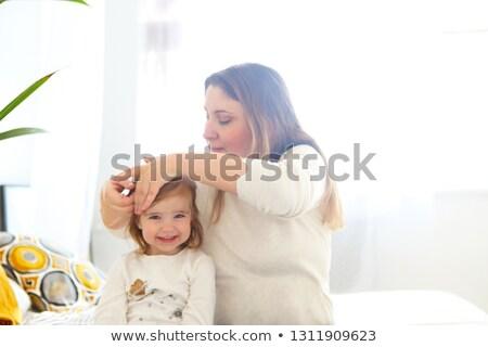 Baby · Friseur · Hände · Haar · Frau · jungen - stock foto © dashapetrenko
