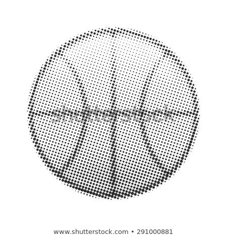 Basquetebol bola meio-tom branco estilizado esportes Foto stock © kyryloff