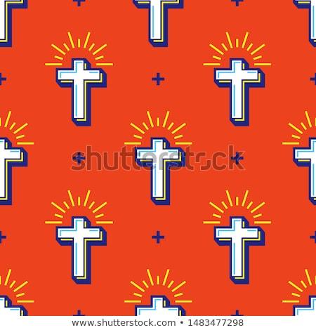 Christianity flat pattern Stok fotoğraf © netkov1