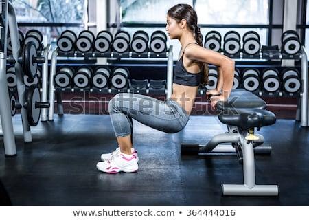 Fiatal nő testmozgás tricepsz egészséges klub gyönyörű Stock fotó © Jasminko