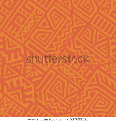 Wild boho seamless pattern with african art Stock photo © cienpies