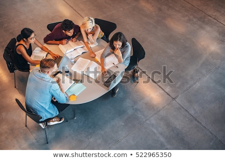 Overhead View Of Friend Sitting In Circle Stock photo © AndreyPopov