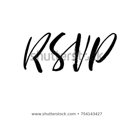 Stock fotó: Modern Calligraphy Of Ink Rsvp Letters Vector
