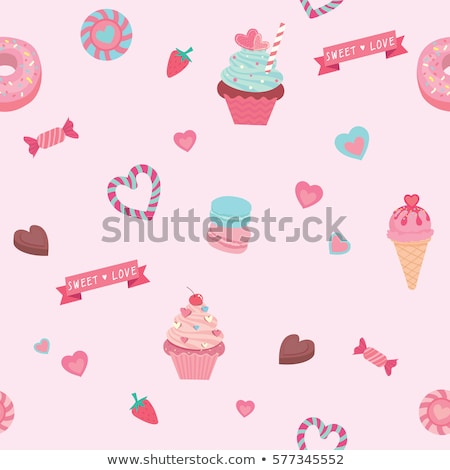 establecer · colorido · cumpleanos · tortas · vector · ardor - foto stock © robuart