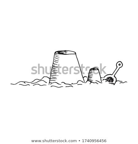 castillo · de · arena · ilustración · ninos · verano · nino - foto stock © robuart