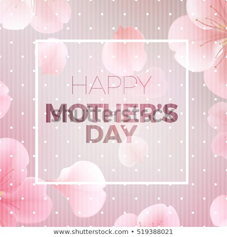 happy mother's day foliage greeting design Stock photo © SArts