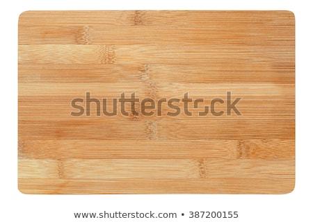 Bambusz vágódeszka textúra absztrakt terv háttér Stock fotó © andreasberheide