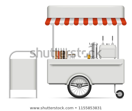 shops of street food kiosk with coffee hot dog stock photo © robuart