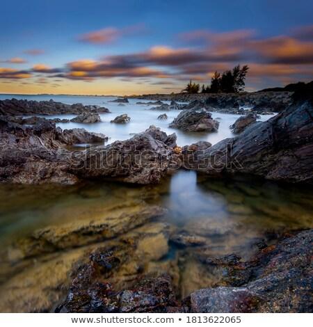 View of the tropical bay at dusk. Long exposure shot. Stock photo © moses