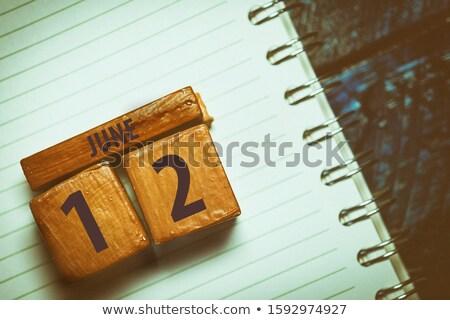 Cubes calendar 12th June Stock photo © Oakozhan