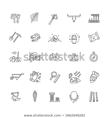 Archeology icon set Stock photo © netkov1