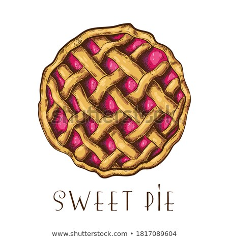 Szín finom bogyó pite édes desszert Stock fotó © pikepicture