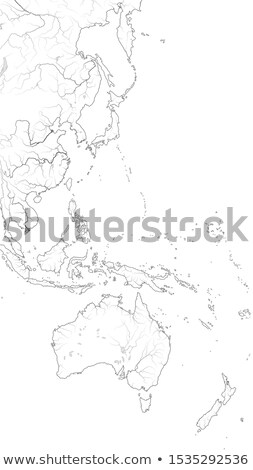 World Map of The PACIFIC OCEAN West coastline: Australasia, Polynesia (Asia-Pacific Region). Chart. Stock photo © Glasaigh