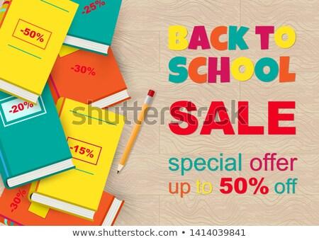 Back to school Sale horizontal banner, vector illustration. Stock photo © ikopylov