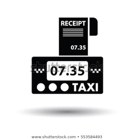 タクシー 領収書 アイコン サークル ステンシル デザイン ストックフォト © angelp