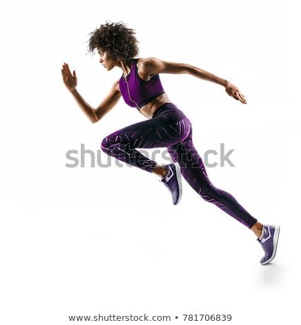 アフリカ系アメリカ人 フィットネス 少女 トレーニング 重み 女性 ストックフォト © diomedes66