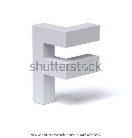 Blue extruded font Letter F 3D Stock photo © djmilic