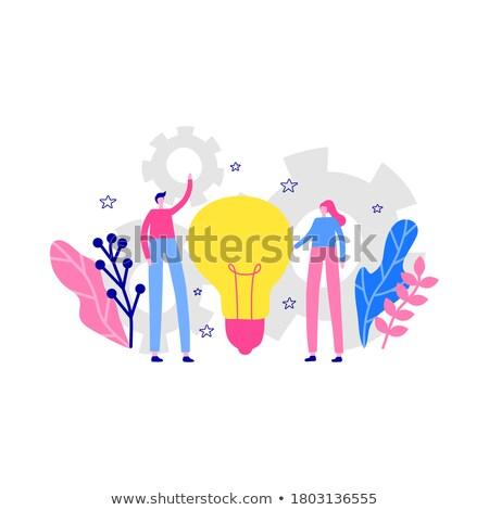 Affaires coopération homme femme travailleurs vecteur Photo stock © robuart
