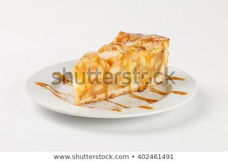 Porción pastel de manzana pelota helado torta otono Foto stock © Alex9500