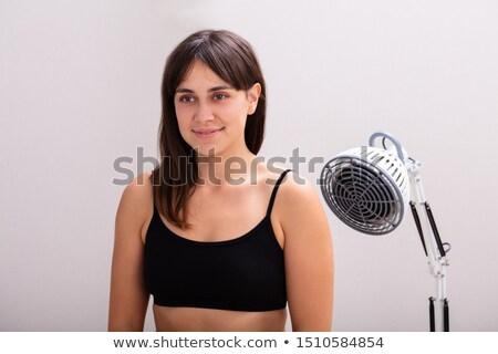 若い女性 赤外 放射線 熱 光 ランプ ストックフォト © AndreyPopov