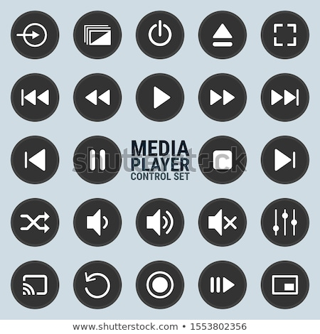 media player button icon set stock photo © bspsupanut