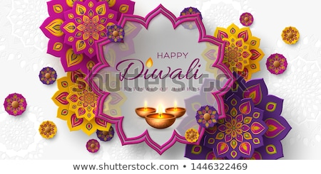festival banner of happy deepawali in bokeh style Stock photo © SArts