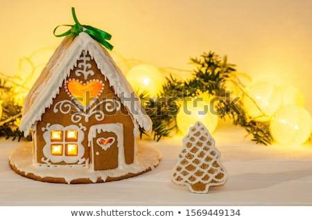 クリスマス 自家製 装飾的な ジンジャーブレッド 家 装飾された ストックフォト © furmanphoto