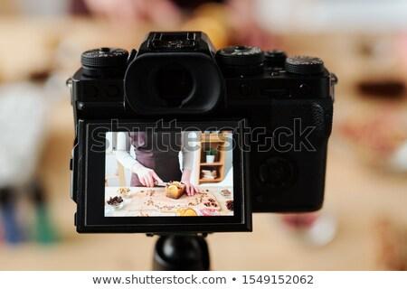Home fotocamera video maestro classe sapone Foto d'archivio © pressmaster