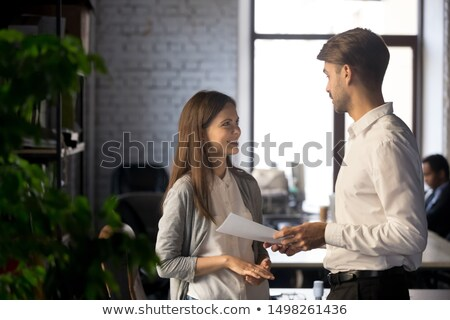 Successful Team Man and Woman Thinking on Tasks Stock photo © robuart