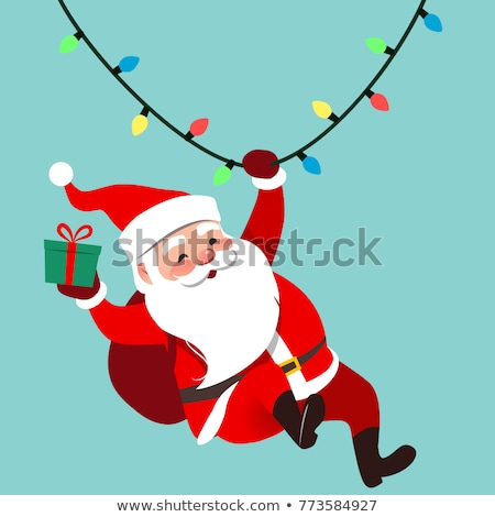 Funny colgante Navidad anunciante vector Foto stock © balasoiu